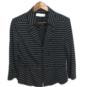 Tahari by Arthur S. Levine Black and Gray Blazer